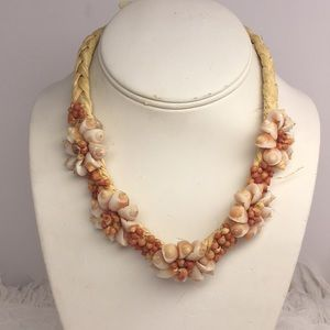 Hand Made Seashell Tropical Necklace
